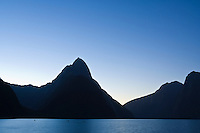 Clear night sky, Milford Sound, Fiordland national park, New Zealand