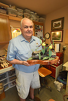 NWA Democrat-Gazette/FLIP PUTTHOFF<br />Charles Wolfe has turned his garage     Aug. 11 2017       into a comfortable wood carving studio.
