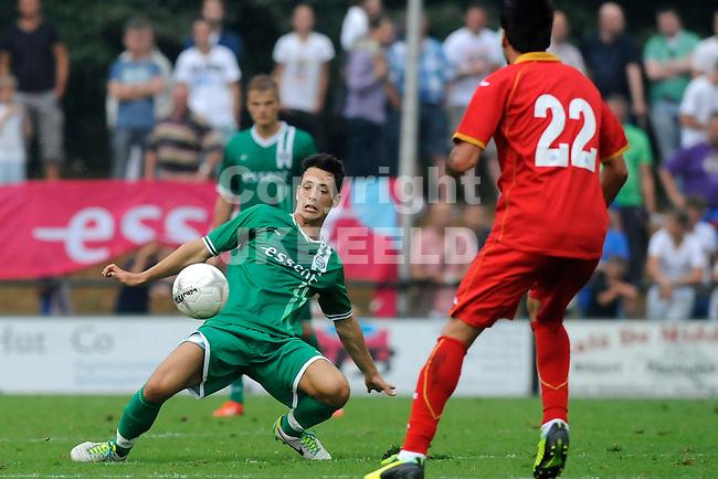 HAREN - Voetbal, FC Groningen - Getafe , voorbereiding seizoen 2013-2014, 24-7-2013,  FC Groningen speler Krisztian Edorjan met Rodriguez