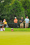 29 August 2009: Steve Marino hits out of a greenside bunker during the third round of The Barclays PGA Playoffs at Liberty National Golf Course in Jersey City, New Jersey.