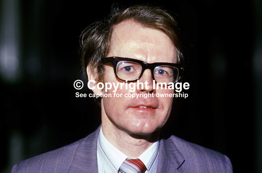 Sid Dempsey, consultant haemotologist, Royal Belfast Hospital for Sick Children, N Ireland, 19860103SD..Copyright Image from Victor Patterson, 54 Dorchester Park, Belfast, United Kingdom, UK...For my Terms and Conditions of Use go to http://www.victorpatterson.com/Victor_Patterson/Terms_%26_Conditions.html