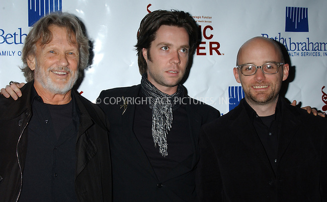 WWW.ACEPIXS.COM . . . . . ....NEW YORK, NOVEMBER 29, 2004....Kris Kristofferson, Rufus Wainwright and Moby at the Music Has the Power Awards in NYC.....Please byline: ACE006 - ACE PICTURES.. . . . . . ..Ace Pictures, Inc:  ..Alecsey Boldeskul (646) 267-6913 ..Philip Vaughan (646) 769-0430..e-mail: info@acepixs.com..web: http://www.acepixs.com