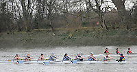 London, Great Britain,  Royal Air Force RC  rowing past Chiswick Pier during the 2012 Head of the River Race, raced over Rowing Course Championship course,  Mortlake to Putney  4.25 Miles, on the River Thames.   Saturday  03/03/2012} [Mandatory Credit: © Peter Spurrier/Intersport Images]