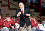 MADISON, WI - JANUARY 19: Head coach Barry Davis of the Wisconsin Badgers wrestling team looks on during their meet against the Penn State Nittany Lions at the Field House on January 19, 2007 in Madison, Wisconsin. The Badgers beat the Nittany Lions 17-16. (Photo by David Stluka)