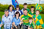 Tom and Debbie Fleming and their families in Currow are completely divided for the Kerry Dublin All Ireland final with Debbie's family all from Dublin and Toms family all from Kerry l-r: William, Caroline, Grace Murray, Alex, Thomas, Amber and Corey Fleming