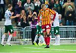 Stockholm 2014-09-21 Fotboll Superettan Hammarby IF - Syrianska FC :  <br /> Syrianskas Alexander Michel deppar efter att Hammarbys Lars Mendonca Fuhre gjort 2-0<br /> (Foto: Kenta J&ouml;nsson) Nyckelord:  Superettan Tele2 Arena Hammarby HIF Bajen Syrianska FC SFC depp besviken besvikelse sorg ledsen deppig nedst&auml;md uppgiven sad disappointment disappointed dejected