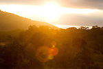 Sunset over tropical rainforest, Lope National Park, Gabon