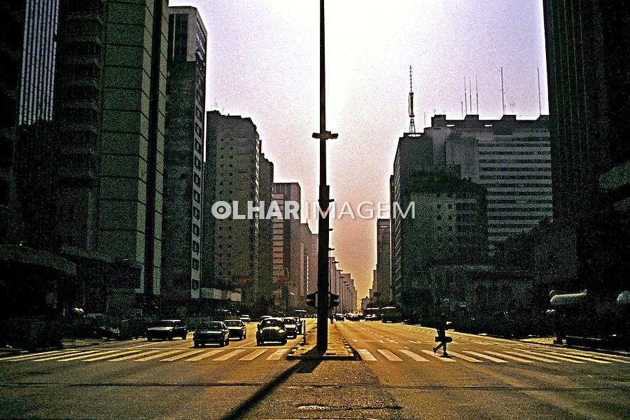 Avenida Paulista em São Paulo. 1993. Foto de Juca Martins.
