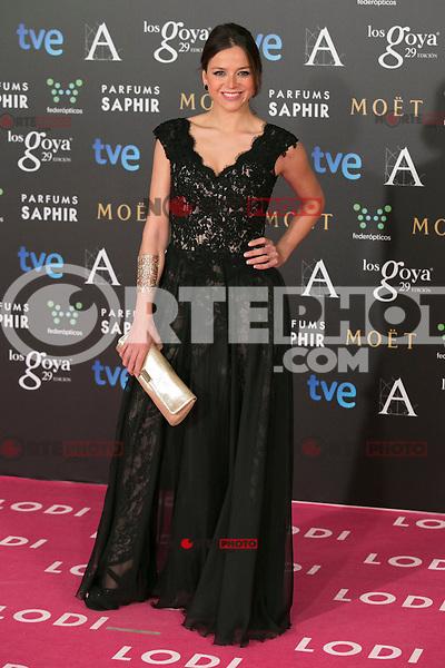 Cristina Alarcon attend the 2015 Goya Awards at Auditorium Hotel, Madrid,  Spain. February 07, 2015.(ALTERPHOTOS/)Carlos Dafonte) /NORTEphoto.com