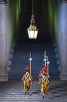 Pontifical Swiss Guard Apostolic Palace the Vatican ,Pope Francis meets with Peru's President Ollanta Humala during a private audience at the Vatican on November 14, 2014.