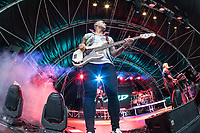 Matt Willis of Busted performing during AmpRocks 2017, part of Ampthill Festival, at Ampthill Great Park, Ampthill, England on 30 June 2017. Photo by David Horn.