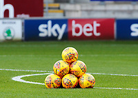Mitre branded league footballs lined up before kick off<br /> <br /> Photographer David Shipman/CameraSport<br /> <br /> The EFL Sky Bet Championship - Rotherham United v Preston North End - Tuesday 1st January 2019 - New York Stadium - Rotherham<br /> <br /> World Copyright © 2019 CameraSport. All rights reserved. 43 Linden Ave. Countesthorpe. Leicester. England. LE8 5PG - Tel: +44 (0) 116 277 4147 - admin@camerasport.com - www.camerasport.com