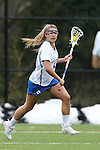 22 February 2015: Duke's Maddy Action. The Duke University Blue Devils hosted the College of William & Mary Tribe on the West Turf Field at the Duke Athletic Field Complex in Durham, North Carolina in a 2015 NCAA Division I Women's Lacrosse match. Duke won the game 17-7.