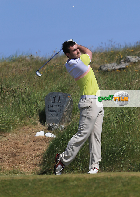 Richard Walsh (Kilkenny) on the 11th during the 1st round of the Irish Amateur Close Championship 2013 at the Connemara Golf Club Sat  8/6/13<br /> Picture:  Thos Caffrey www.golffile.ie
