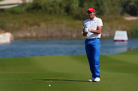 Benjamin Hebert (FRA) on the 18th during Round 1 of the Commercial Bank Qatar Masters 2020 at the Education City Golf Club, Doha, Qatar . 05/03/2020<br /> Picture: Golffile | Thos Caffrey<br /> <br /> <br /> All photo usage must carry mandatory copyright credit (© Golffile | Thos Caffrey)