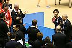 (L to R) Craig Reedie, Koki Niwa, MARCH 5, 2013 : Japanese Table Tennis Player Koki Niwa Speeachs for International Olympic Committee Vice President Craig Reedie Tokyo Metropolitan Gymnasium, Tokyo, Japan. The IOC evaluation commission, led by Reedie, began a four-day inspection of Tokyo's bid to host the 2020 Olympics. (Photo by Yusuke Nakanishi/AFLO SPORT)