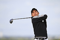 Ryunosuke Sakane (JPN) on the 5th tee during Round 1 of the The Amateur Championship 2019 at The Island Golf Club, Co. Dublin on Monday 17th June 2019.<br /> Picture:  Thos Caffrey / Golffile<br /> <br /> All photo usage must carry mandatory copyright credit (© Golffile | Thos Caffrey)