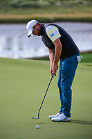 Marc Leishman (AUS) barely misses his putt on 14 during round 3 Foursomes of the 2017 President's Cup, Liberty National Golf Club, Jersey City, New Jersey, USA. 9/30/2017.<br /> Picture: Golffile | Ken Murray<br /> <br /> All photo usage must carry mandatory copyright credit (&copy; Golffile | Ken Murray)