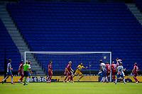 13th June 2020, Barcelona, Spain; La Liga football, RCD Espanyol versus Alaves;  RCD Espanyols Bernardo Espinosa scores his goal for 1-0 late in 1st half extra time