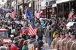 The annual Veteran's Day Parade in Virginia City, Nev., on Tuesday, Nov. 11, 2014.<br /> Photo by Cathleen Allison