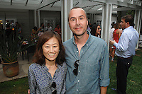 Chong Kim, Wendell Gladstone==<br /> LAXART 5th Annual Garden Party Presented by Tory Burch==<br /> Private Residence, Beverly Hills, CA==<br /> August 3, 2014==<br /> ©LAXART==<br /> Photo: DAVID CROTTY/Laxart.com==