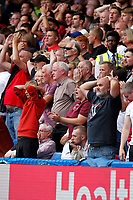 Sheffield United fans see a chance go begging during the Premier League match between Chelsea and Sheff United at Stamford Bridge, London, England on 31 August 2019. Photo by Carlton Myrie / PRiME Media Images.