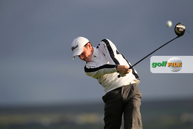 Brian Doran (Palmerstown Stud) on the 2nd tee during Round 2 of the South of Ireland Amateur Open Championship at LaHinch Golf Club on Thursday 23rd July 2015.<br /> Picture:  Golffile | Thos Caffrey
