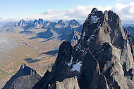 Aerial views of Tombstone Territorial Park, Yukon