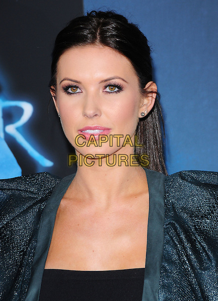 AUDRINA PATRIDGE.The Twentieth Century Fox World Premiere of Avatar held at The Grauman's Chinese Theatre in Hollywood, California, USA. .December 16th, 2009.headshot portrait hair up grey gray green pink lipstick  make-up eyeliner mascara .CAP/RKE/DVS.©DVS/RockinExposures/Capital Pictures.