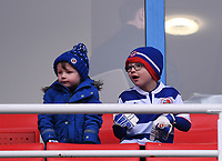 25th January 2020; Madejski Stadium, Reading, Berkshire, England; English FA Cup Football, Reading versus Cardiff City; two young Reading fans anticipate the match