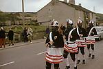 Britannia Bacup Coconut Dancers, Bacup Lancashire, Easter clog dancing.1974