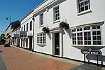 White fronted buildings and street sign in London Street, Basingstoke Hampshire, England