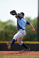 Tampa Bay Rays minor league pitcher Bryce Stowell during an extended spring training game against the Boston Red Sox on April 16, 2014 at Charlotte Sports Park in Port Charlotte, Florida.  (Mike Janes/Four Seam Images)