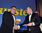 Kerry Chairman Patrick O&quot;Sullivan wions first prize in the raffle  at the Bord G&aacute;is Energy Munster GAA Sports Star of the Year Awards in The Malton Hotel, Killarney on Saturday.  Picture by Don MacMonagle<br /> <br /> PR photo from Munster Council