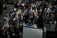 Milano: Silvio Berlusconi parla al Palasharp, durante la campagna elettorale per l'elezione del sindaco di Milano.