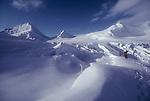 Alaska, Climbers, Matanuska Glacier, Chugach Mountains, National Outdoor Leadership School climbing team ascending the ice fall through crevasses and seracs to gain the Matanuska Ice Field,.