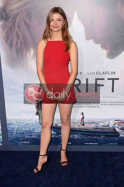 "Stefanie Scott<br /> at the ""Adrift"" World Premiere, Regal Cinemas L.A. Live, Los Angeles, CA 05-23-18<br /> David Edwards/DailyCeleb.com 818-249-4998"