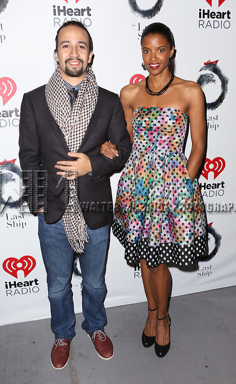 Lin-Manuel Miranda and Renée Elise Goldsberry attends the Broadway Opening Night performance of 'The Last Ship' at the Neil Simon Theatre on October 26, 2014 in New York City.