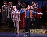 "Reed Birney and Carolee Carmello during the final performance curtain call for the New York City Center Encores! at 25 production of  ""Hey, Look Me Over!"" on February 11, 2018 at the City Center Theatre in New York City."