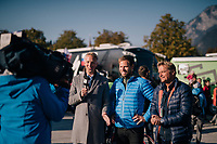 former World Champion Thor Hushovd interviewed by Norwegian TV pre-race<br /> <br /> MEN ELITE ROAD RACE<br /> Kufstein to Innsbruck: 258.5 km<br /> <br /> UCI 2018 Road World Championships<br /> Innsbruck - Tirol / Austria