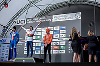 men's junior podium:<br /> <br /> 1st place: Ben Tulett (GBR)<br /> 2nd place: Tomas Kopecky (CZE)<br /> 3th place: Ryan Kamp (NED)<br /> <br /> men's junior Race<br /> UCI CX Worlds 2018<br /> Valkenburg - The Netherlands