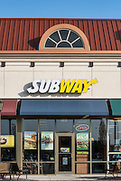 Subway Sandwiches fast food store, Mount Laural, New Jersey, USA