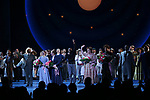Amar Ramasar, Alexander Gemignani, Jessie Mueller, Renee Fleming, Joshua Henry, Lindsay Mendez, Margaret Colin and John Douglas Thompson during the Opening Night Curtain Call for 'Carousel' at the Imperial Theatre on April 12, 2018 in New York City.