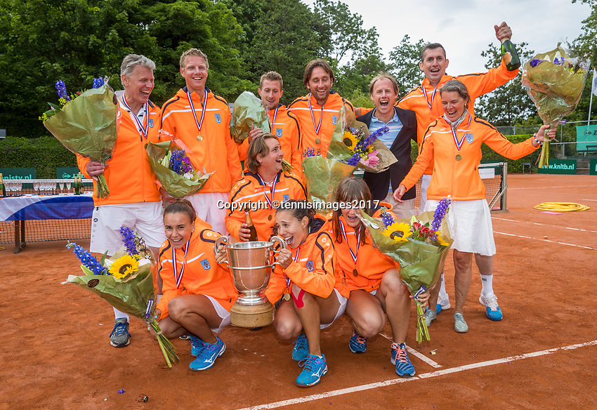 The Hague, Netherlands, 11 June, 2017, Tennis, Play-Offs Competition, Men's Doubles, Authom/Desein, Leimonias<br /> Photo: Henk Koster/tennisimages.com