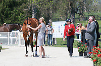 LEXINGTON, KY - April 26, 2017. #19 Ballylaffin Bracken and Kristin Schmolze from the USA at the Rolex Three Day Event First Horse Inspection at the Kentucky Horse Park.  Lexington, Kentucky. (Photo by Candice Chavez/Eclipse Sportswire/Getty Images)