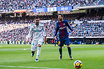 Lionel Andres Messi (R) of FC Barcelona battles for the ball with Carlos Henrique Casemiro of Real Madrid  during the La Liga 2017-18 match between Real Madrid and FC Barcelona at Santiago Bernabeu Stadium on December 23 2017 in Madrid, Spain. Photo by Diego Gonzalez / Power Sport Images
