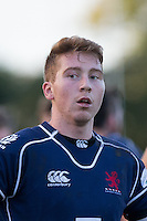 Ben Calder of London Scottish on the final whistle during the Greene King IPA Championship match between London Scottish Football Club and Jersey at Richmond Athletic Ground, Richmond, United Kingdom on 7 November 2015. Photo by Andy Rowland.