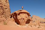 Paesaggi del mondo. Il deserto di Wadi Rum in giordania.