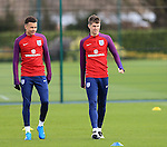 England's Dele Alli and John Stones during training at the Tottenham Hotspur Training Centre.  Photo credit should read: David Klein/Sportimage