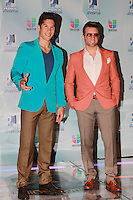 MIAMI, FL- July 19, 2012:  Chino y Nacho at the 2012 Premios Juventud at The Bank United Center in Miami, Florida. © Majo Grossi/MediaPunch Inc. /*NORTEPHOTO.com*<br />